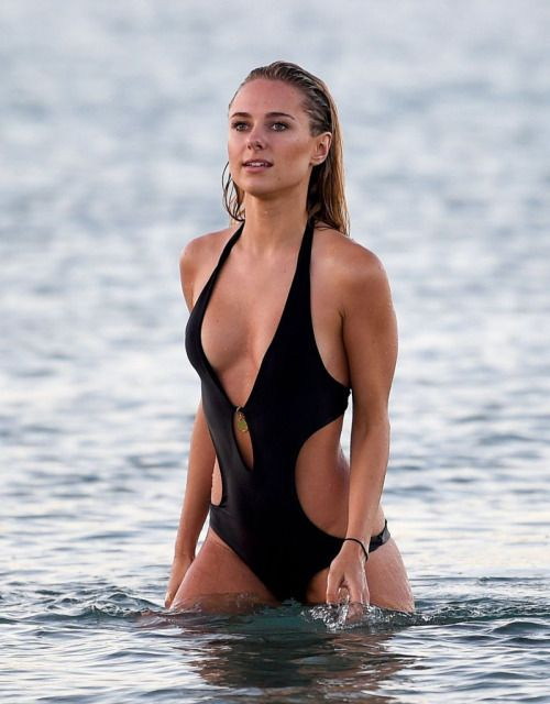 Kimberley Garner black swimsuit