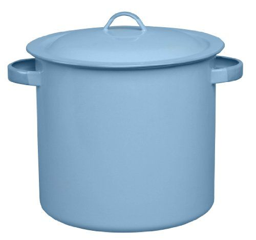 Cinsa 312067 Trend Ware Enamel on Steel Steamer Pot with Lid and Rack, 12-Quart, Arctic Blue - http://cookware.everythingreviews.net/13297/cinsa-312067-trend-ware-enamel-on-steel-steamer-pot-with-lid-and-rack-12-quart-arctic-blue.html