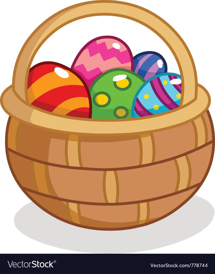 Cartoon Easter Egg Basket Download A Free Preview Or High Quality Adobe Illustrator Ai Eps Pdf And High Easter Wallpaper Happy Easter Card Easter Egg Basket