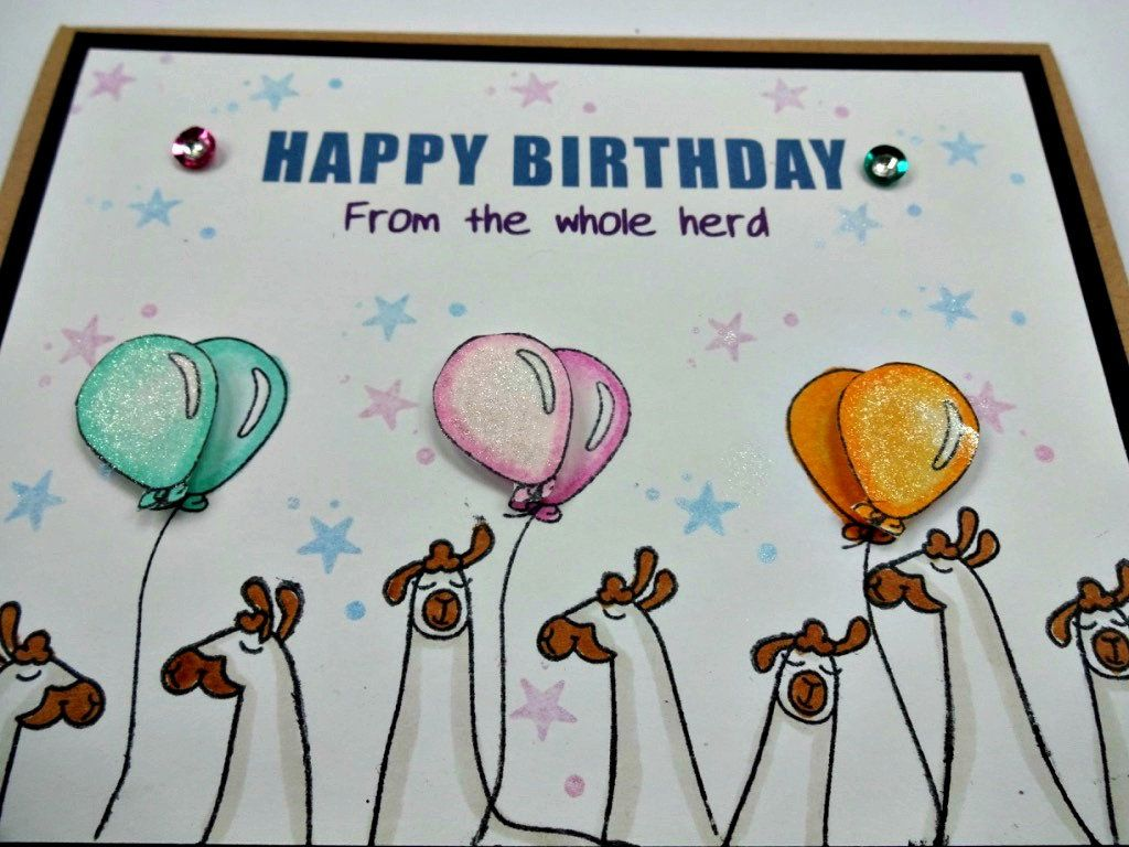 Card From All Of Us Group Card Office Birthday Card Happy Etsy Funny Llama Birthday Wishes Funny Cards