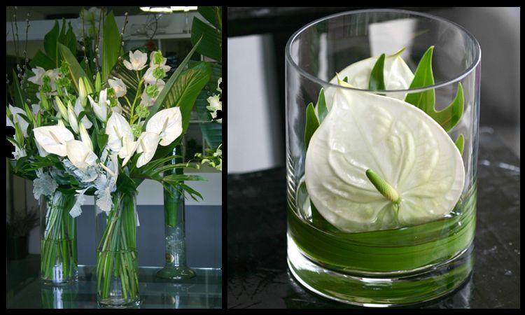 White Anthuriums Adam S Garden Florist Fresh Flowers Arrangements Small Flower Arrangements Flower Vase Arrangements