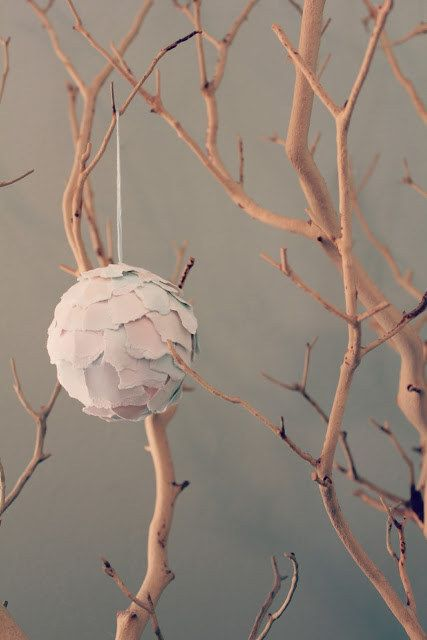 Ripped Paper | 21 Turnt Up DIY Ornaments That Will Transform Any Tree