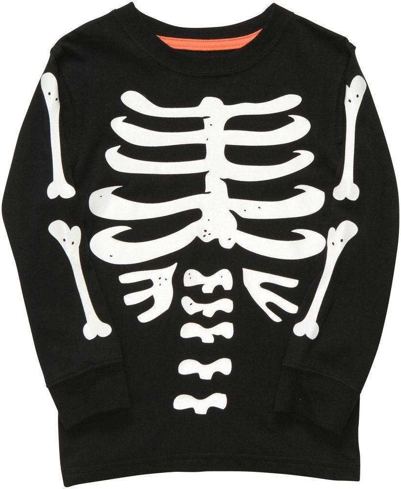 5558c2e7d Carter's Long Sleeve Glow in the Dark Toddler Skeleton Shirt 24 Month  #Carters #Holiday