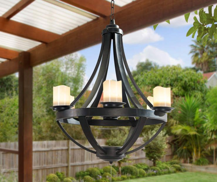 I Found A Led Candle Hanging Battery Operated Chandelier At Big Lots For Less
