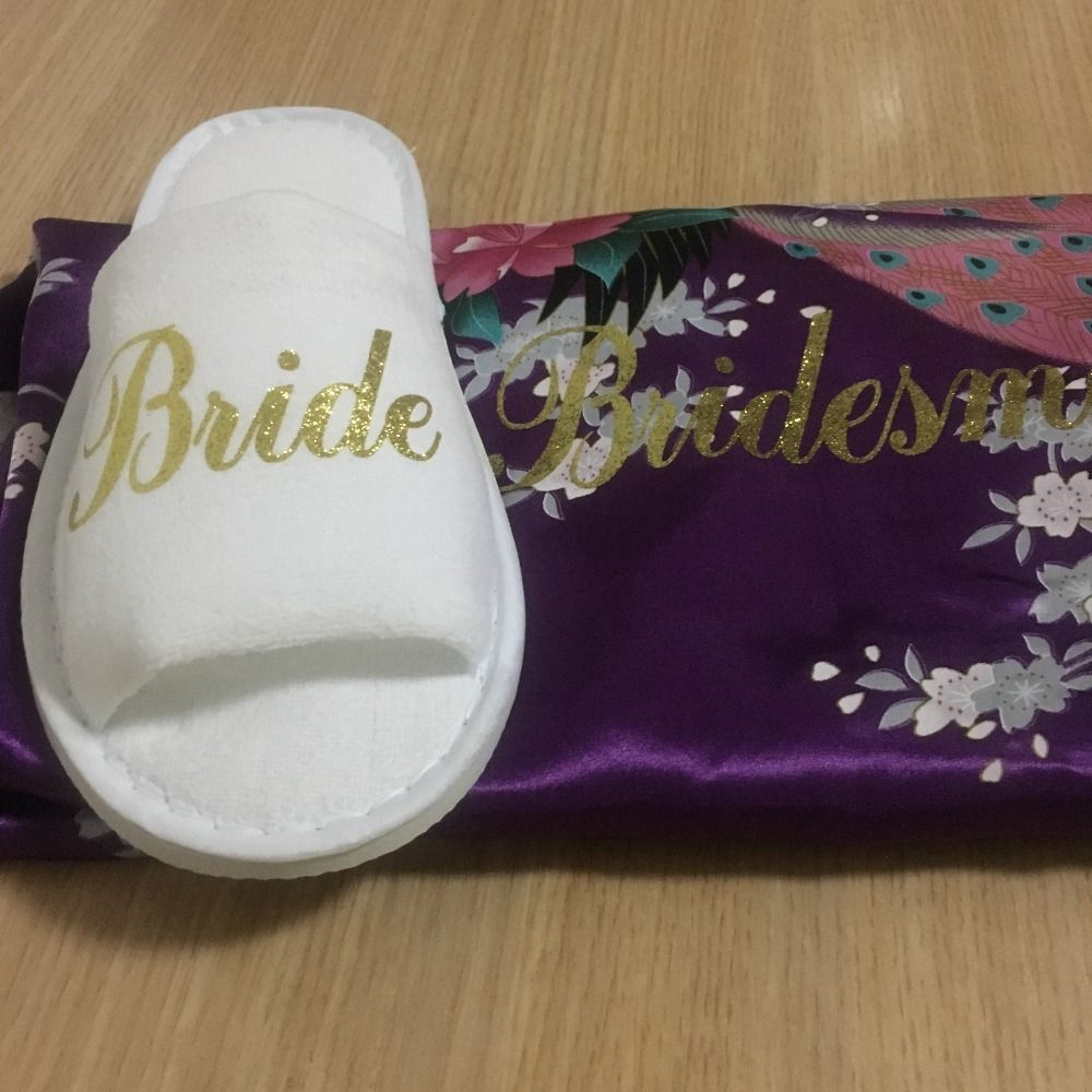 7f1f5e7e063c Free Shipping 5 Pairs Lot Custom Glitter Logo Bride be to Bachelorette  party Personalized Wedding Slippers Bridesmaid gift on Aliexpress.com