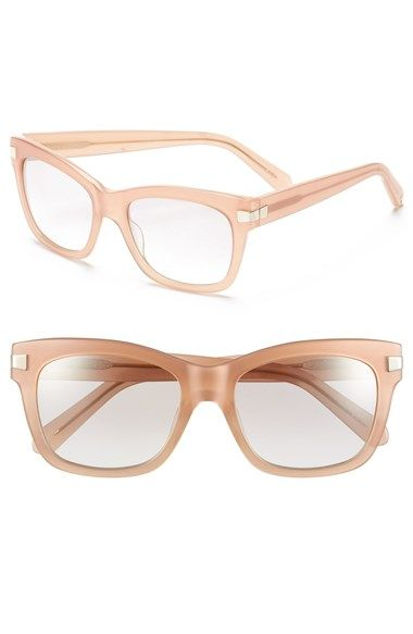 b26a7bd216e Free shipping and returns on kate spade new york 52mm retro sunglasses at  Nordstrom.com. A metallic band grazes the outer frame of neutral-hued  sunglasses ...