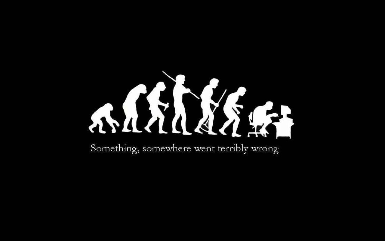 Funny Quotes U0026 Saying Mouse Pad, Ironic Evolution Something Somewhere Went  Terribly Wrong Rectangle Non Slip Rubber Mousepad Gaming Mouse Pad Mat