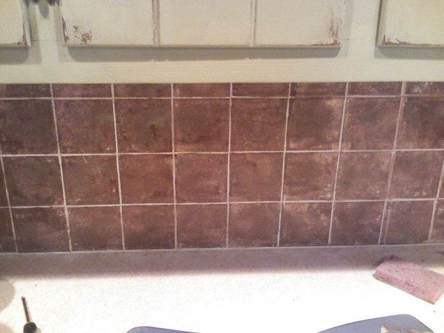 red kitchen wall tile paint