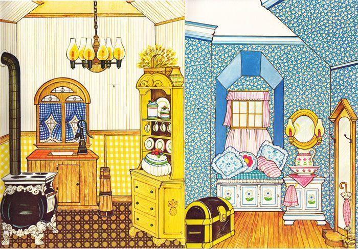 The Ginghams En Casa Y En La Escuela Munecas Munecas Para - Vestir-casas
