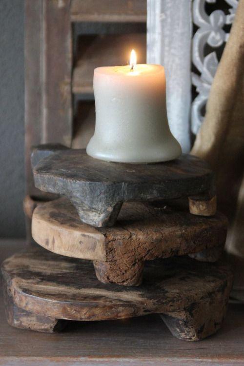 Decor Ideas.... #Candle #Wood #Texture - PinkPanthress.tumblr.com