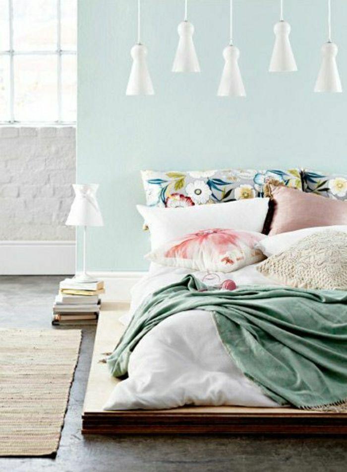 Adopter la couleur pastel pour la maison lustre blanc - Couleur pastel mur ...