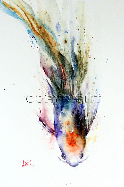 KOI Watercolor Print by Dean Crouser. $45.00, via Etsy ...