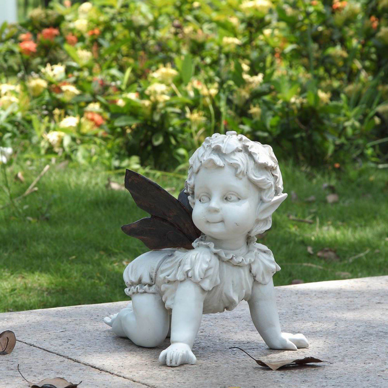 Hi Line Gift Ltd Crawling Baby Fairy Garden Statue Baby Fairy Garden Figurines Fairy Statues