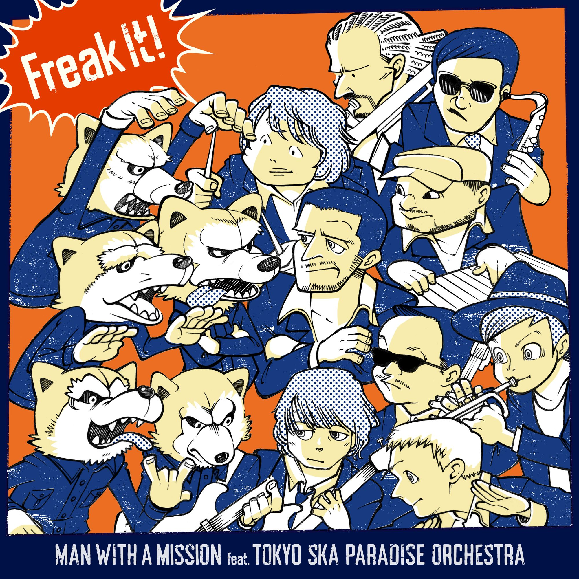 2月2日 金 に全世界デジタルリリースとなる Freak It Feat 東京スカパラダイスオーケストラ の ジャケ写が本日公開となりました Nbsp Mwamと東京スカパラダイスオーケストラのメンバーがアメコミ風のイラストで描かれており 東京スカパラダイスオーケストラ
