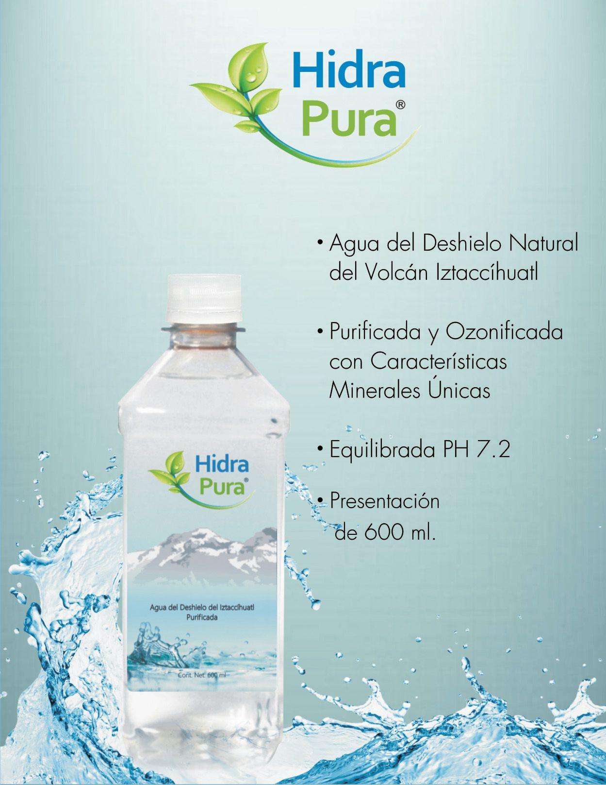 Te invito a que pruebes nuestra Agua Hidra Pura, para el calorcito.