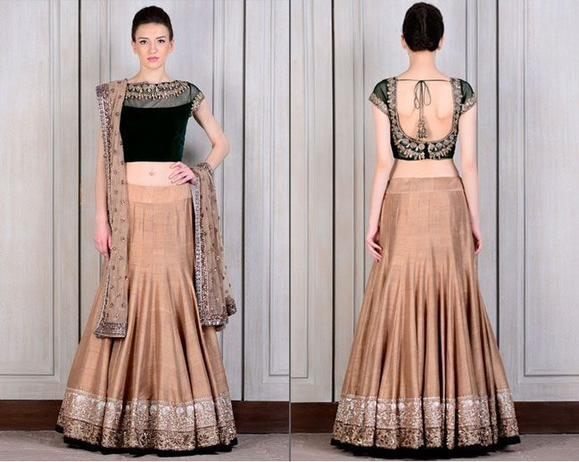 Beige Dress Picture Collection: 12 Beautiful Manish Malhotra Lehengas For The Brides