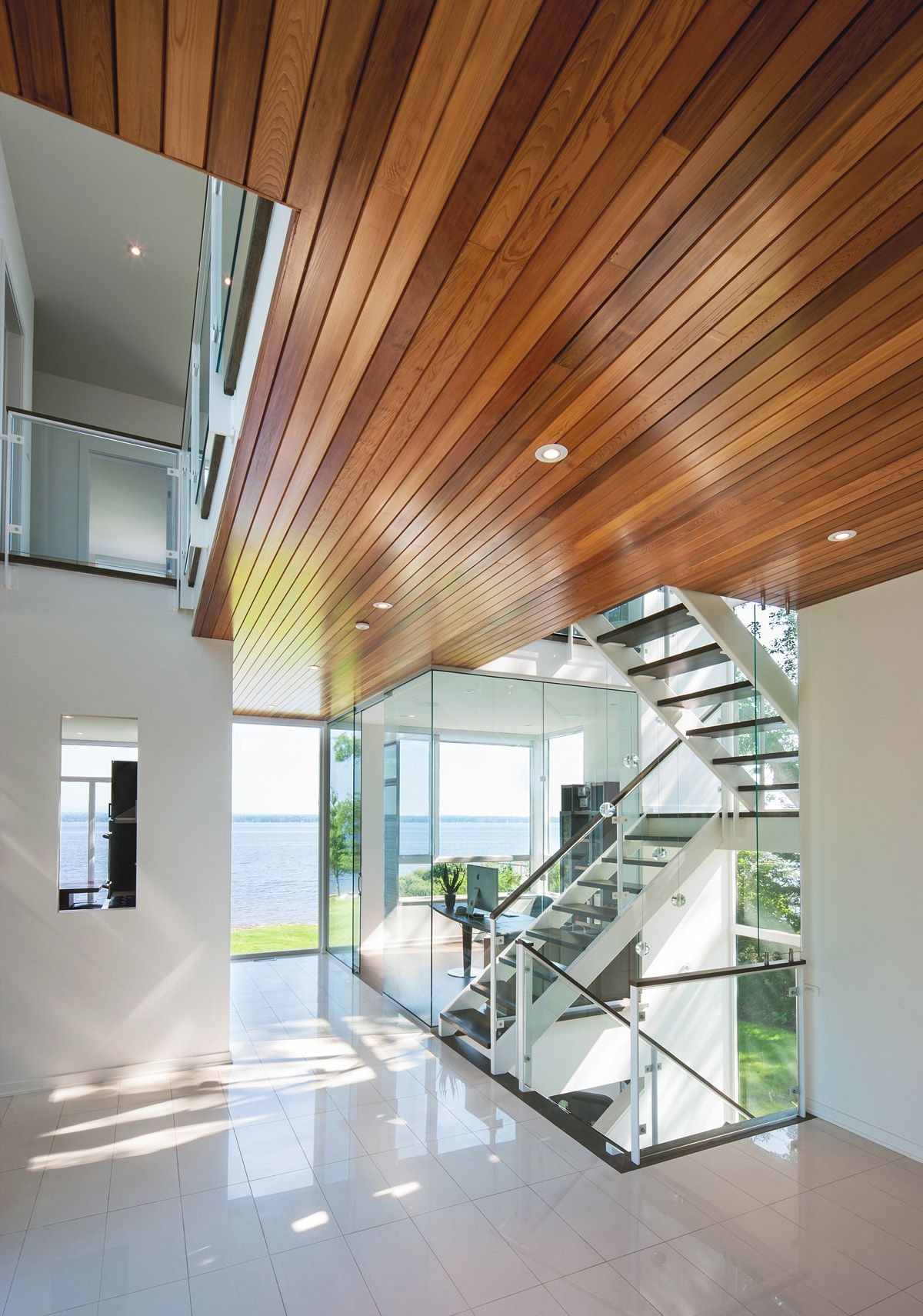 Nothing Beats A Modern Wood Paneled Ceiling.