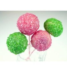 Cake Pops mit rosa Glitzerzucker