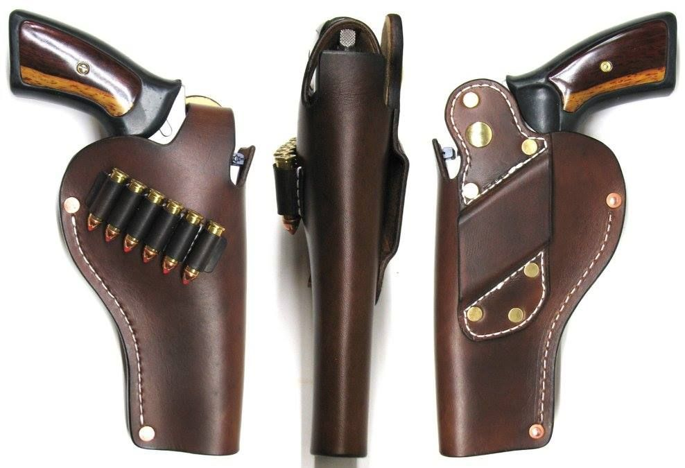 Trailmaster Holsters  Tan cross-draw holster for Ruger GP100