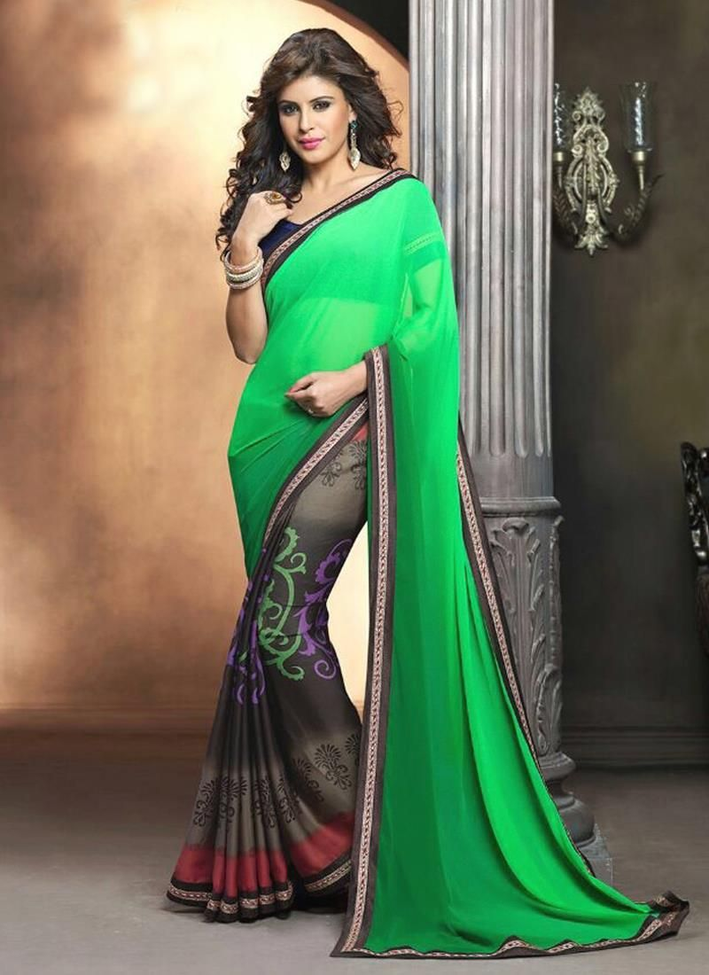 Delightsome Weight Less Lace Work Casual Saree