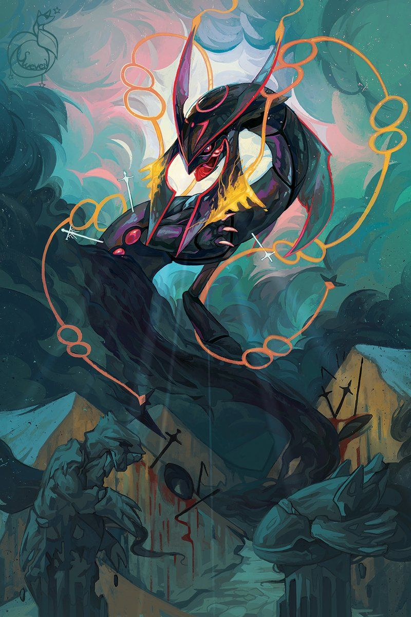 Swevenfox On Twitter Pokemon Rayquaza Cool Pokemon Wallpapers Pokemon Poster
