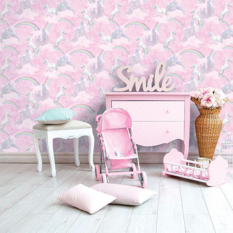 Best Holden Decor I Believe In Unicorns Pink Glitter Wallpaper 640 x 480