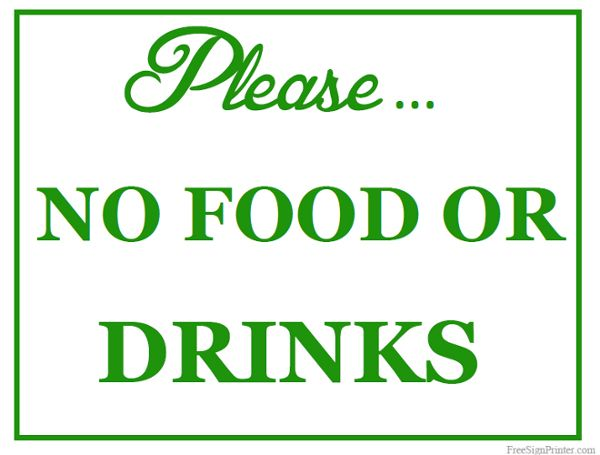 picture about No Food or Drink Signs Printable known as Printable No Foodstuff or Beverages Signal Not Permitted Indicators Consume