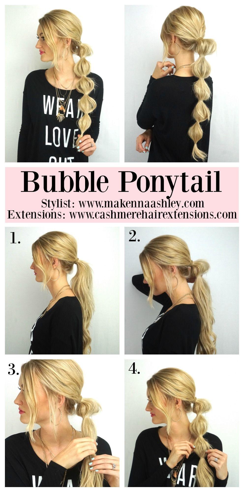 Bubble Ponytail Tutorial hairstyles Pinterest