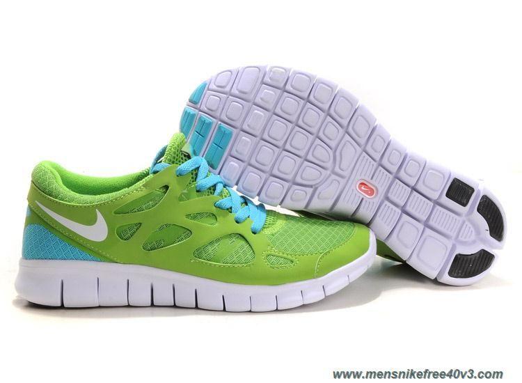 4b7467a33e51 Green Blue Glow Nike Free Run 2 443815-010 Mens Online