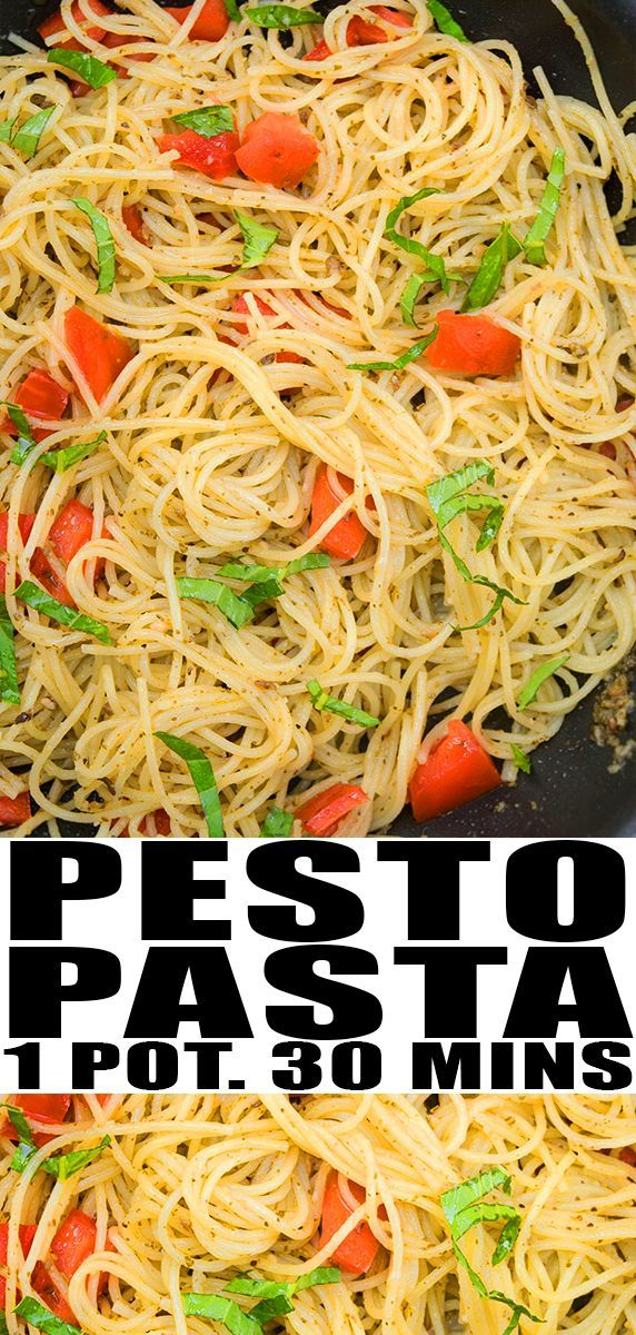 BASIL PESTO PASTA RECIPE Quick easy healthy vegetarian made with simple ingredients in one pot This 30 minute meal is packed with peso sauce basil and tomatoes Can be mad...