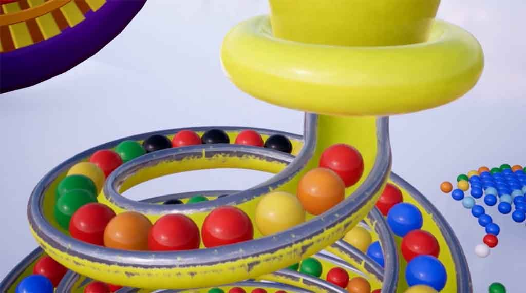 ff4e658f8 3D Slide Carosel with animated balls. The Balls slide down to reveal ...
