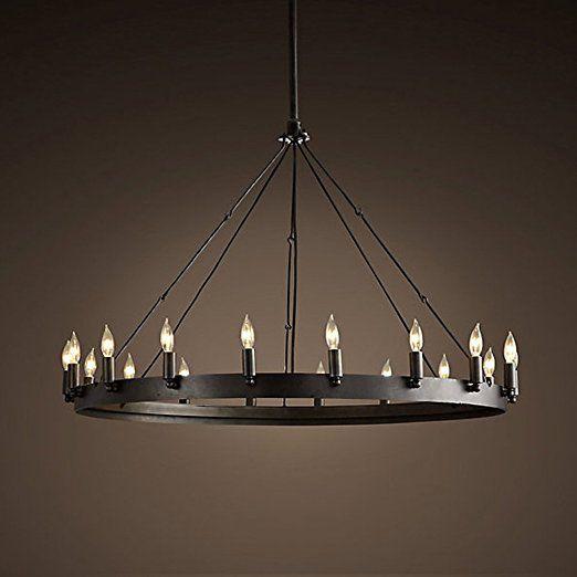 Aiwen Klassische Eisen Kronleuchter Pendelleuchte Deckenleuchte(lichtquelle  Nicht Enthalten)Achtzehn Lampenfassungen