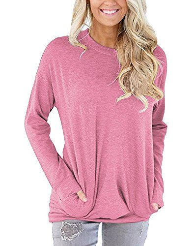 ec8d69db063 Women's Long Sleeve Casual Crew Neck Plain Tunic Tops Sweatshirt # sweatshirts #blouses #fashion #tops #tshirts #womenwear #womens