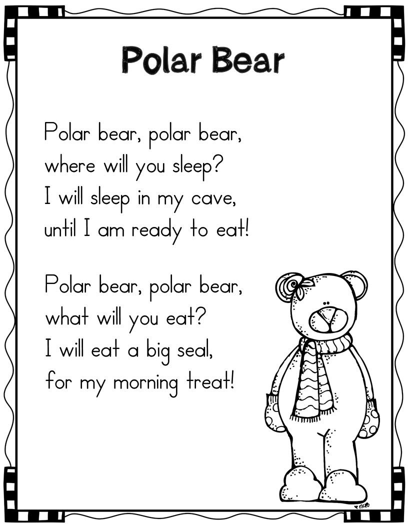 Winter Shared Reading Poems and Pocket Charts | Children\'s Storytime ...