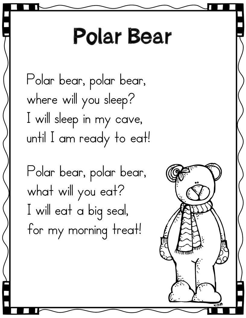 Winter Poems For Shared Reading Polar Bears