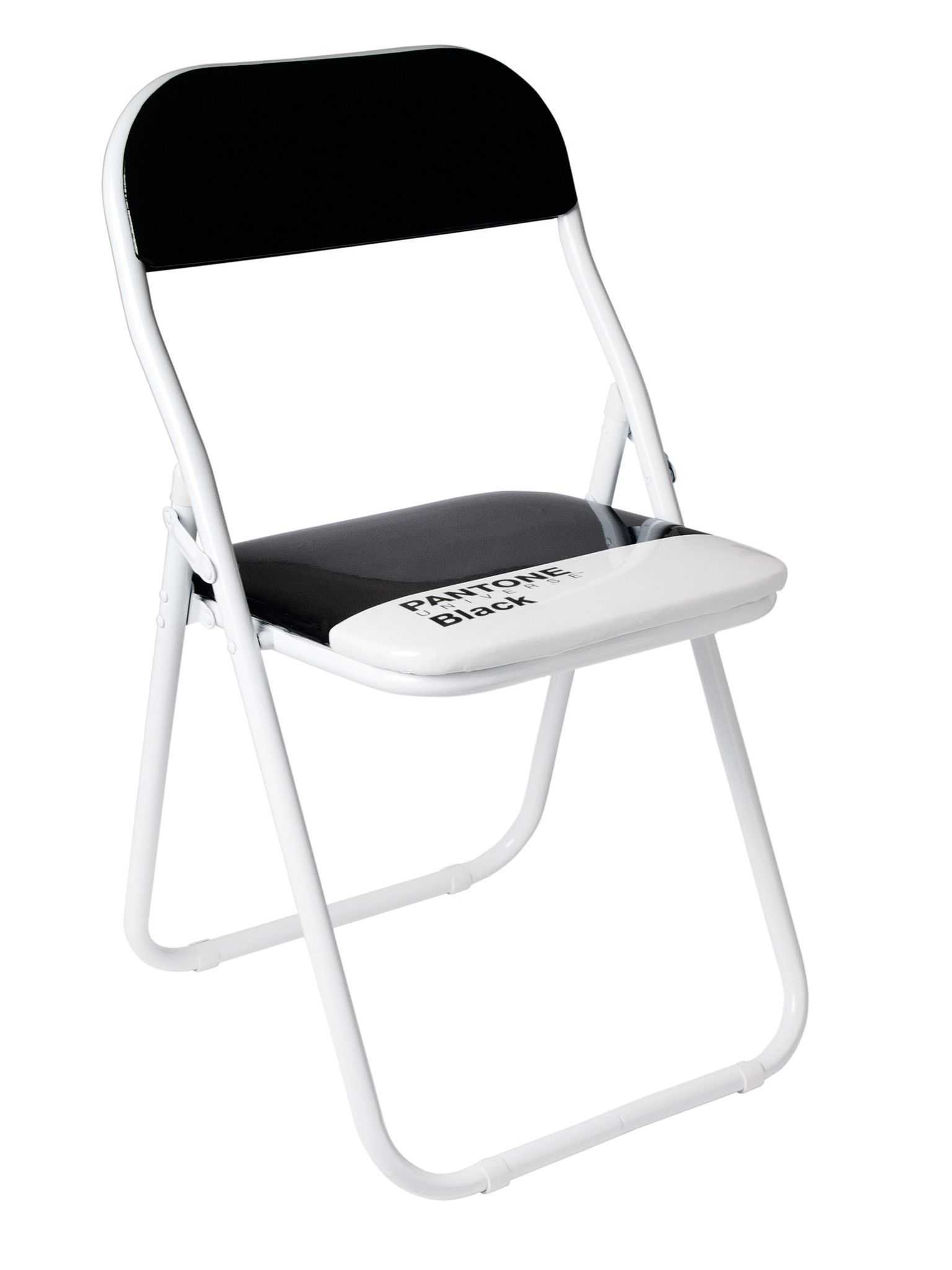 Black Metal Folding Chairs pantone black metal folding chair (set of 4) | metals, products