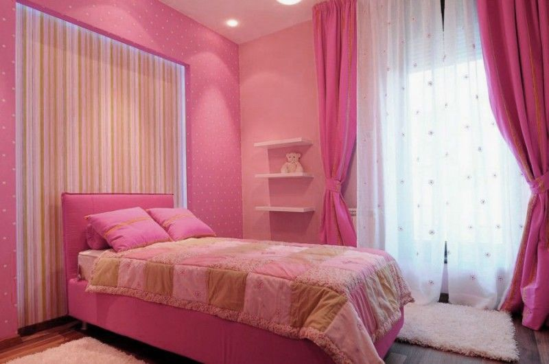 Penthouse Design Idea Gorgeous In Belgrade Pink Girl Bedroom Interior Color Modern Textures