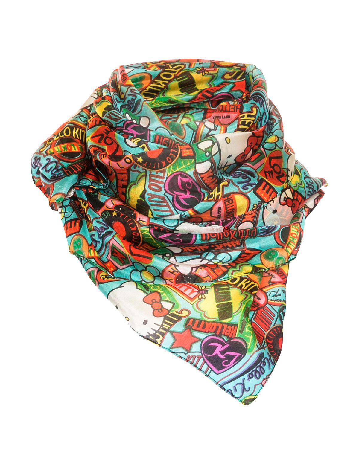 082062427 PETER RUTZ - Hello-Kitty print silk scarf - navabi | Accessories ...