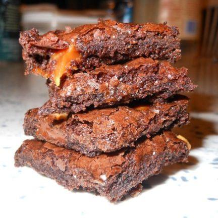 homemade caramel, toffee, and dark chocolate brownie brittle :)