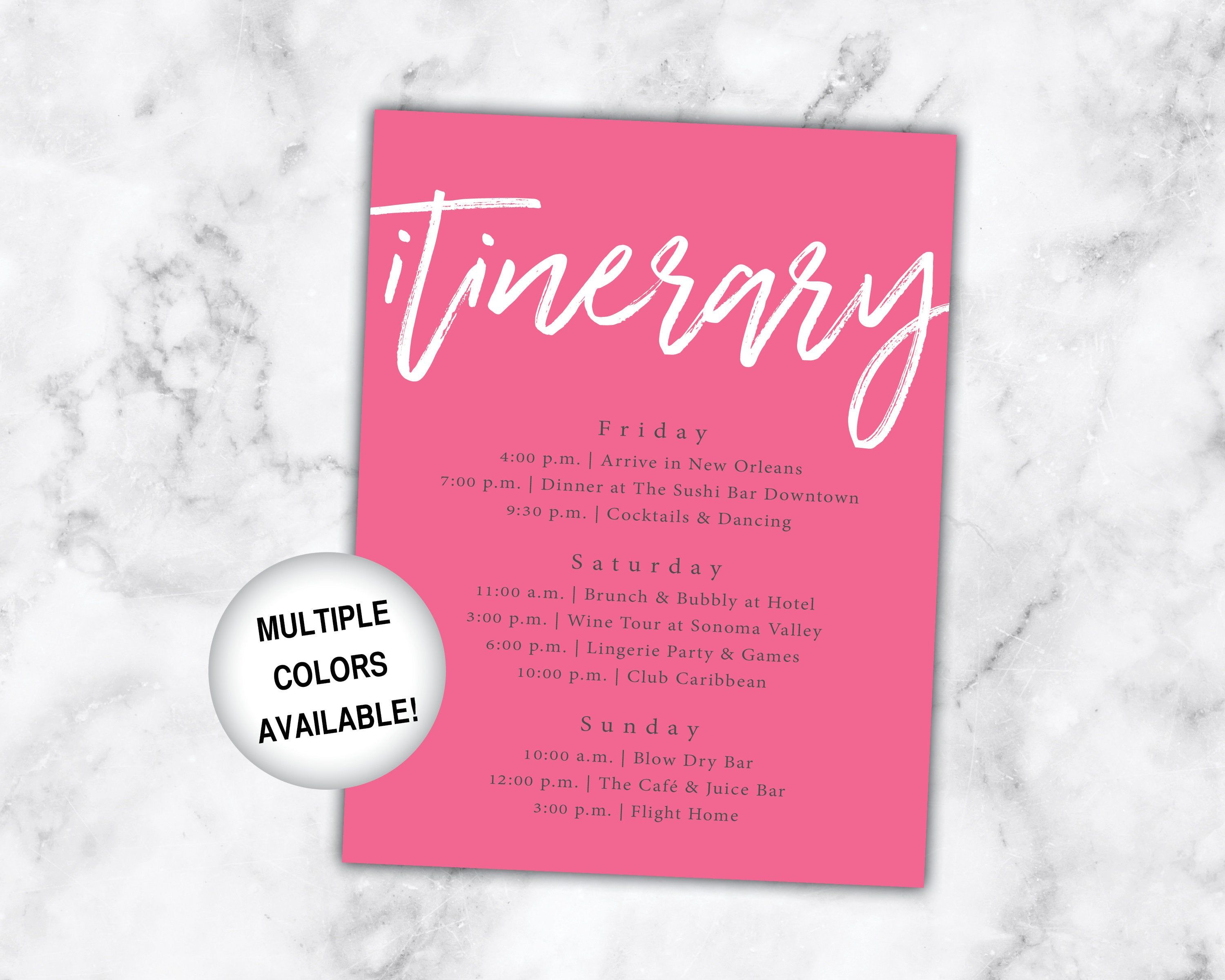 Bachelorette Itinerary Printable Itinerary For Bachelorette Etsy Bachelorette Itinerary Bachelorette Party Itinerary Bachelorette Party Invitations