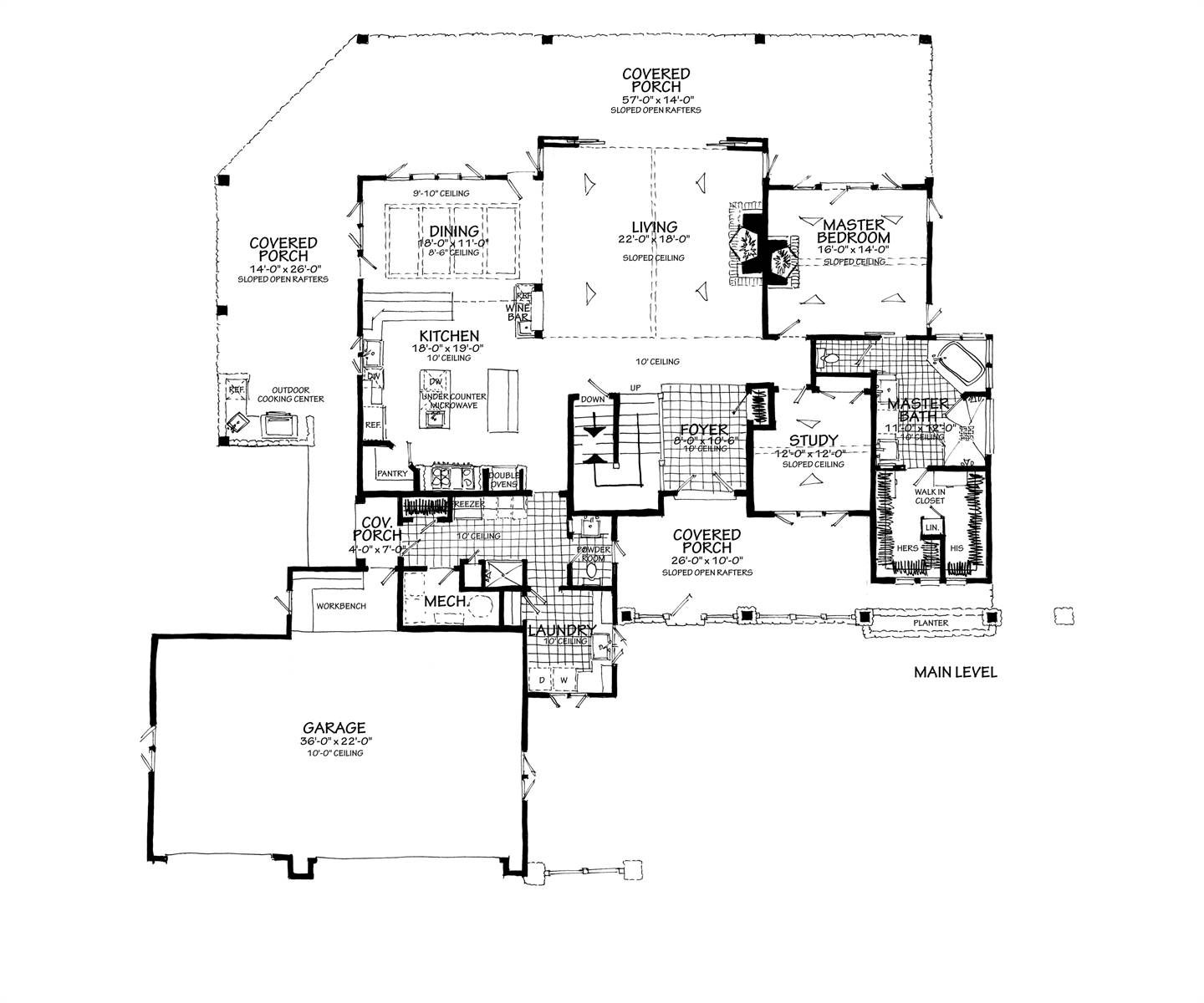 Country House Plan With 4 Bedrooms And 4 5 Baths Plan 7299 With Images Country Style House Plans How To Plan Floor Plans