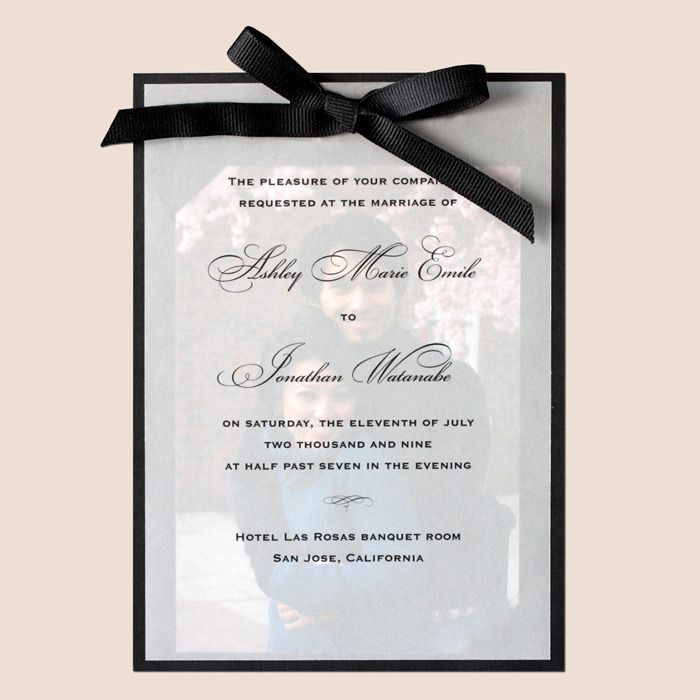 Photo wedding invitations how to make elegant photo invitations free wedding invitations solutioingenieria Images
