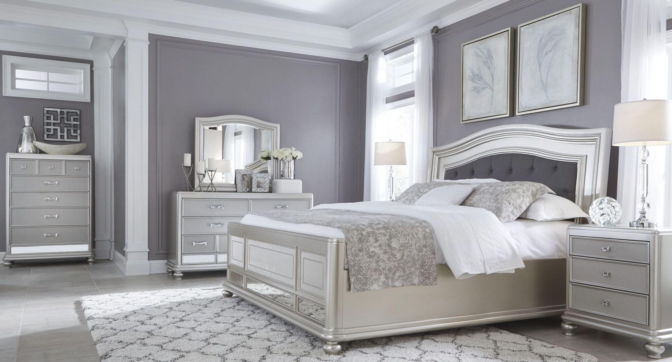 coralayne silver bedroom set silver
