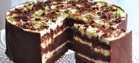 Čokoládovo - limetková torta