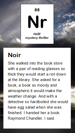 Nr Noir Periodic Table Of Literary Elements Pinterest