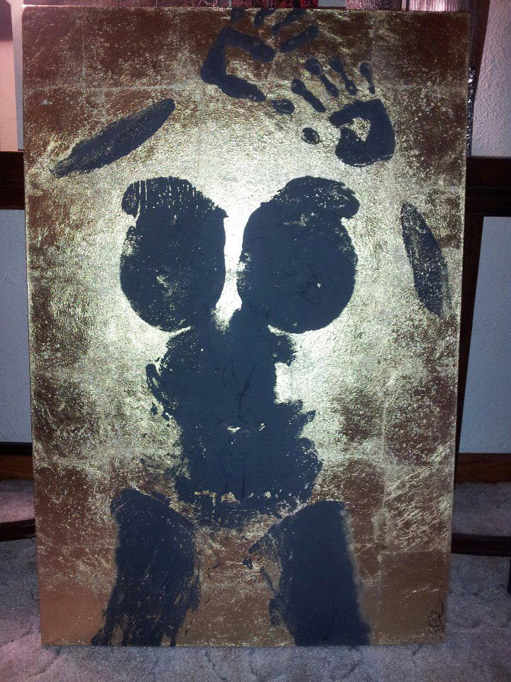 This Is Gold Leaf A Custom Mixed Plaster And An Imprint Of My Body Done For Naughty Gras Art Show Diy Canvas Art Painting Diy Canvas Art Cute Canvas Paintings