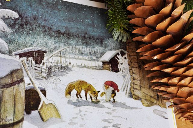 Tell Me A Story The Tomten And The Fox Christmas Diorama Painting Legends And Myths