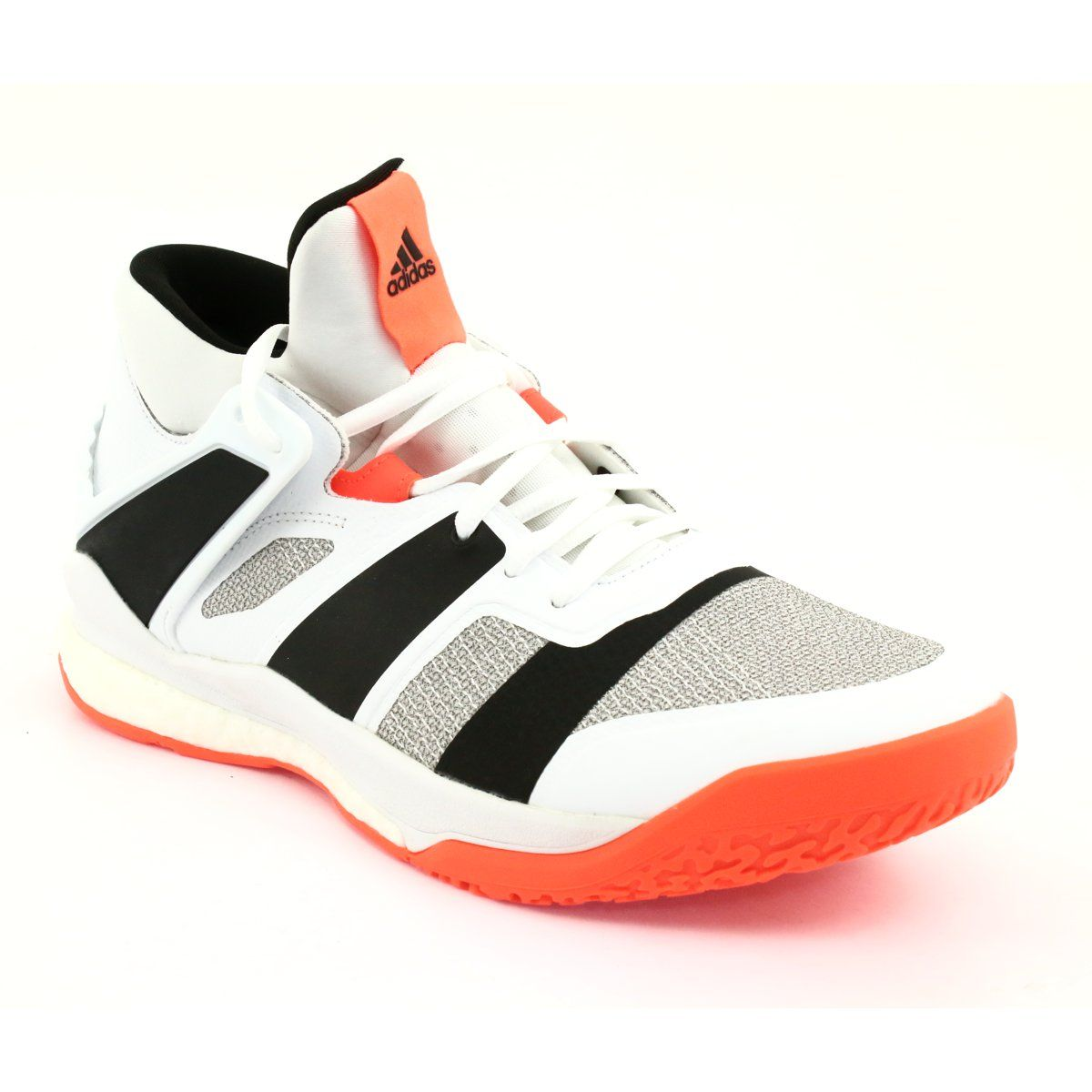 Buty adidas Stabil X Mid M F33827 białe | Shoes, Sneakers