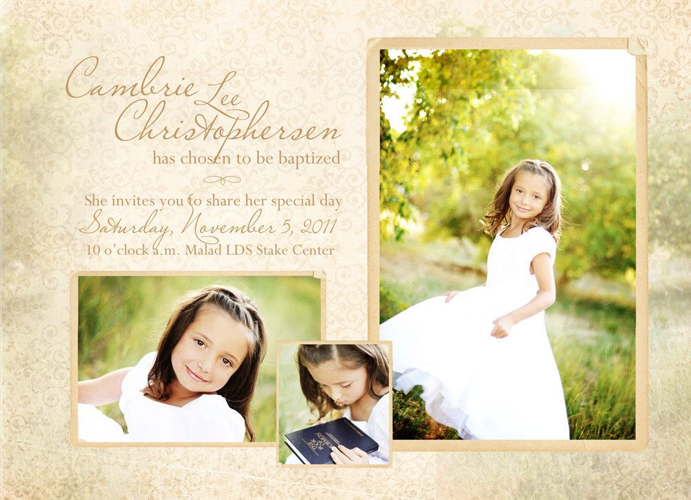Baptism Announcement--The Cambrie $1500, via Etsy Design