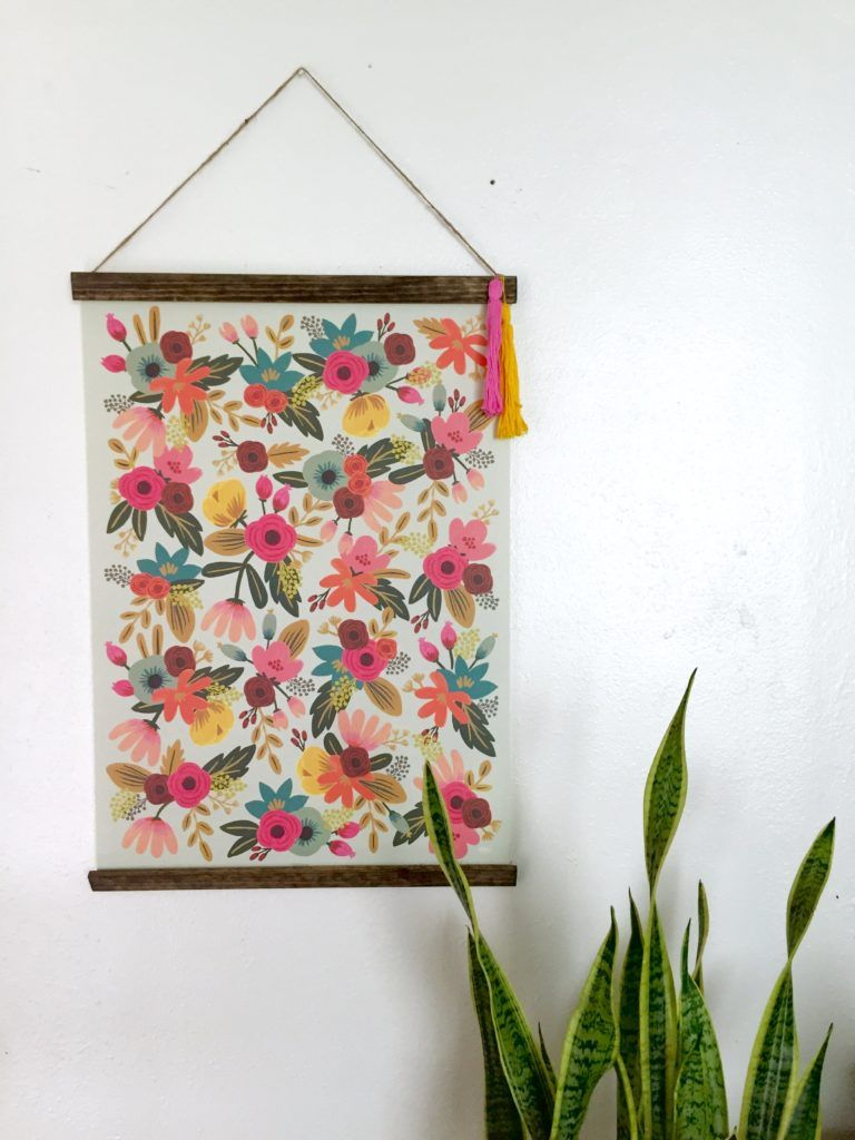 Beautiful DIY Poster Frame   Diy poster frame, Hanging posters and ...